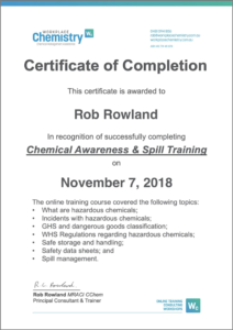 chemical awareness training